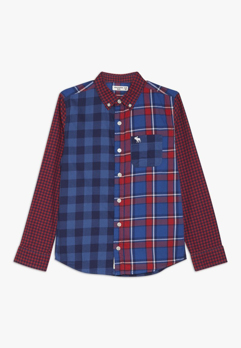 Abercrombie & Fitch - COLORBLOCK  - Skjorta - red/dark blue