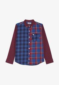 Abercrombie & Fitch - COLORBLOCK  - Skjorta - red/dark blue - 2