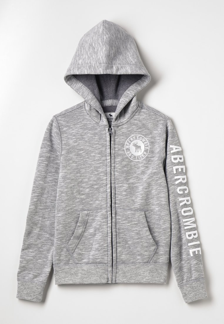 Abercrombie & Fitch - CORE - Zip-up hoodie - grey solid