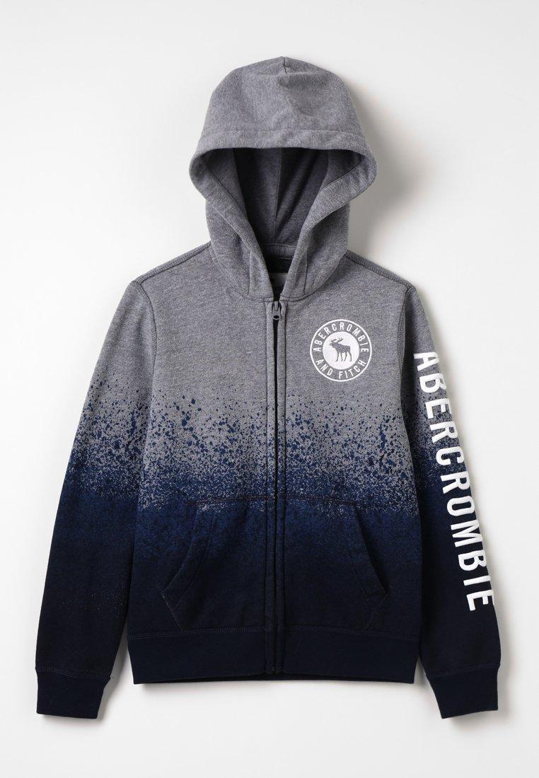 Abercrombie & Fitch - CORE - Sweatjacke - grey dip dye