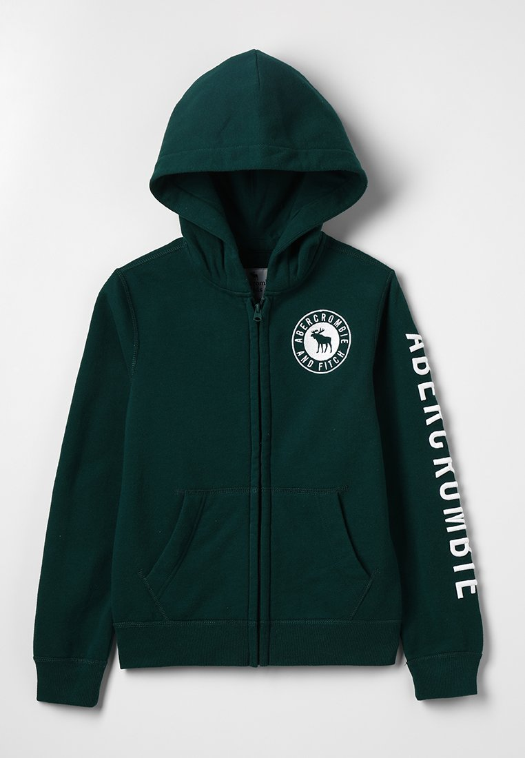 Abercrombie & Fitch - CORE - Zip-up hoodie - green solid