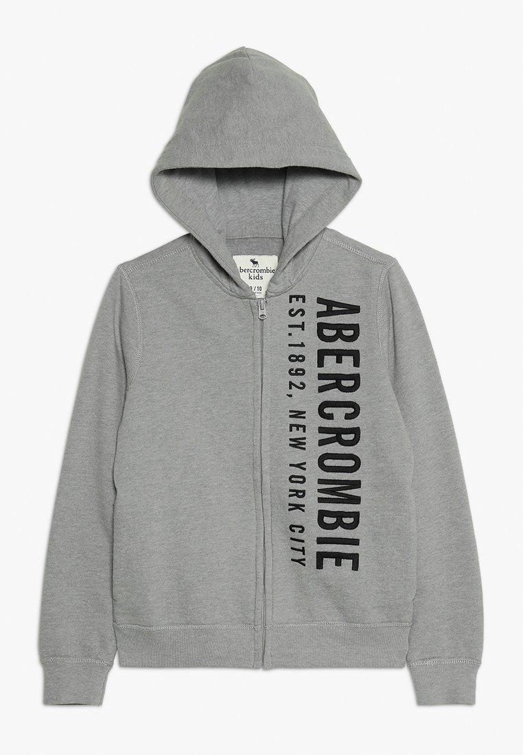 Abercrombie & Fitch - LOGO - Sudadera con cremallera - grey