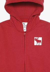 Abercrombie & Fitch - LOGO CORE - veste en sweat zippée - red - 4