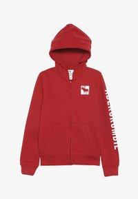 Abercrombie & Fitch - LOGO CORE - veste en sweat zippée - red - 3