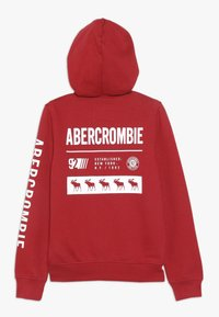 Abercrombie & Fitch - LOGO CORE - veste en sweat zippée - red - 1