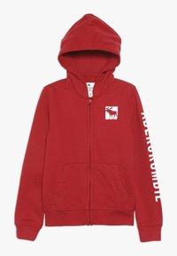 Abercrombie & Fitch - LOGO CORE - veste en sweat zippée - red - 0