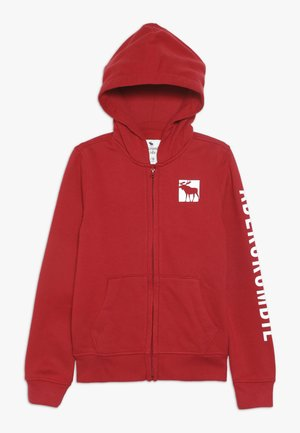LOGO CORE - Mikina na zip - red