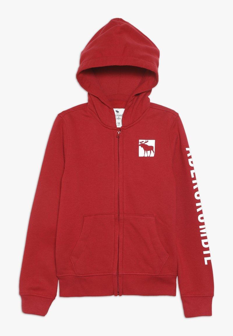 Abercrombie & Fitch - LOGO CORE - veste en sweat zippée - red