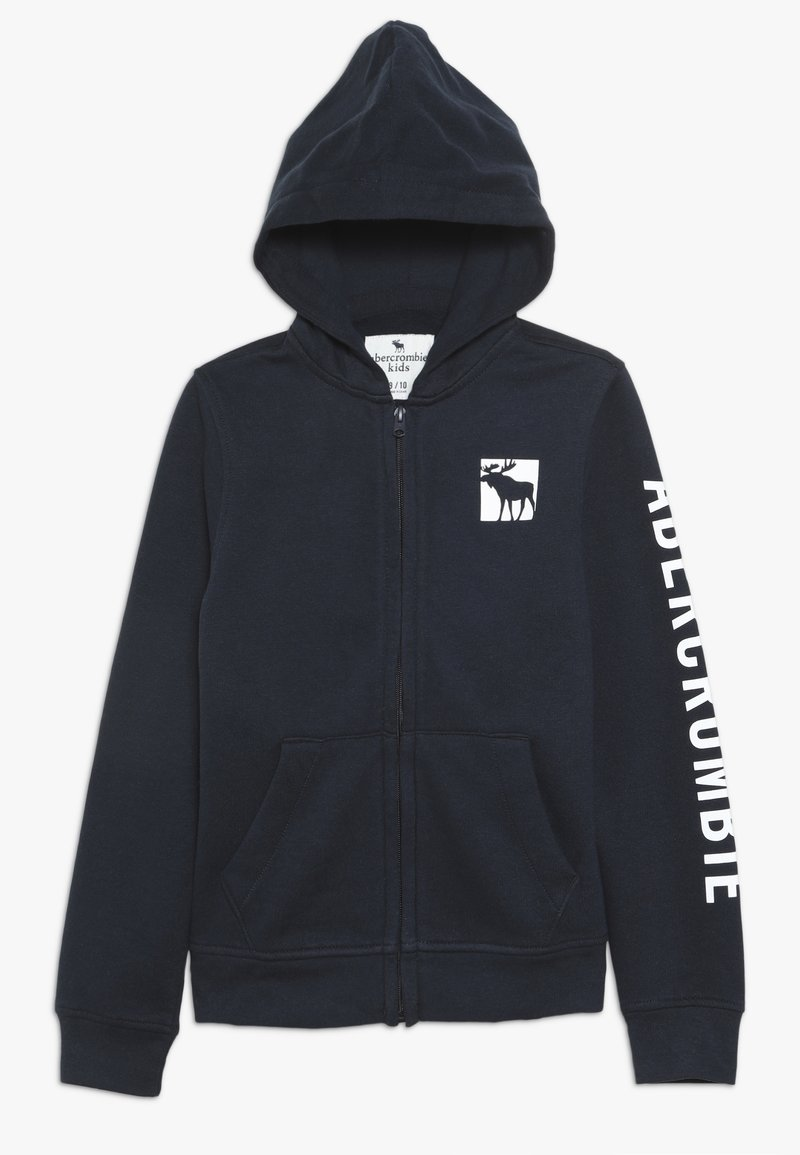Abercrombie & Fitch - LOGO CORE - Zip-up hoodie - navy