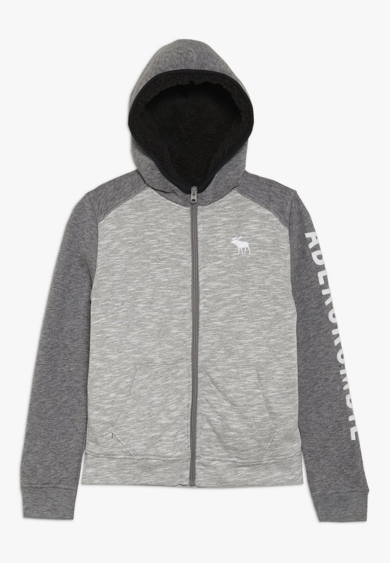 Abercrombie & Fitch - Fleecová bunda - light grey