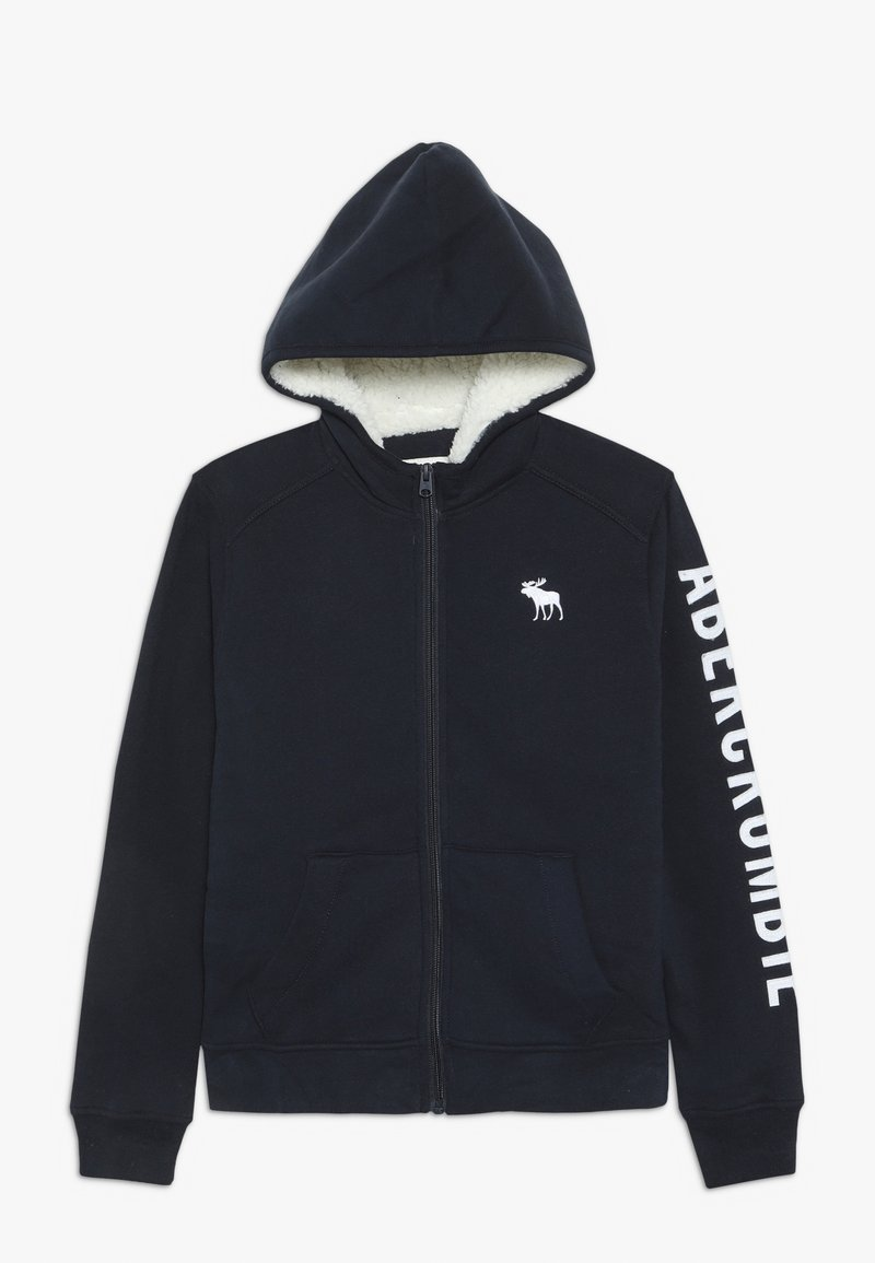 Abercrombie & Fitch - Giacca in pile - navy