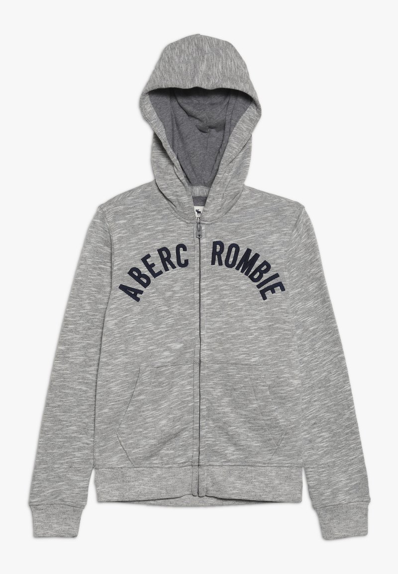 Abercrombie & Fitch - LOGO - Zip-up hoodie - light grey