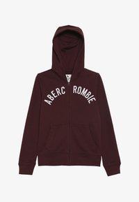 Abercrombie & Fitch - LOGO - Zip-up hoodie - burgundy - 2