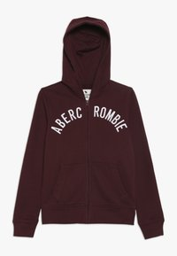 Abercrombie & Fitch - LOGO - Zip-up hoodie - burgundy - 0