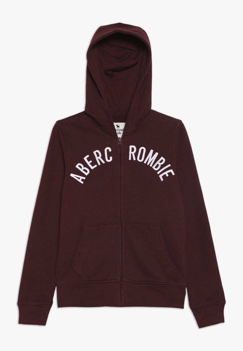 Abercrombie & Fitch - LOGO - Zip-up hoodie - burgundy