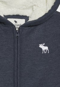 Abercrombie & Fitch - SHERPA  - Zip-up hoodie - textured navy - 3
