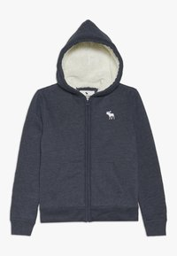 Abercrombie & Fitch - SHERPA  - Zip-up hoodie - textured navy - 0