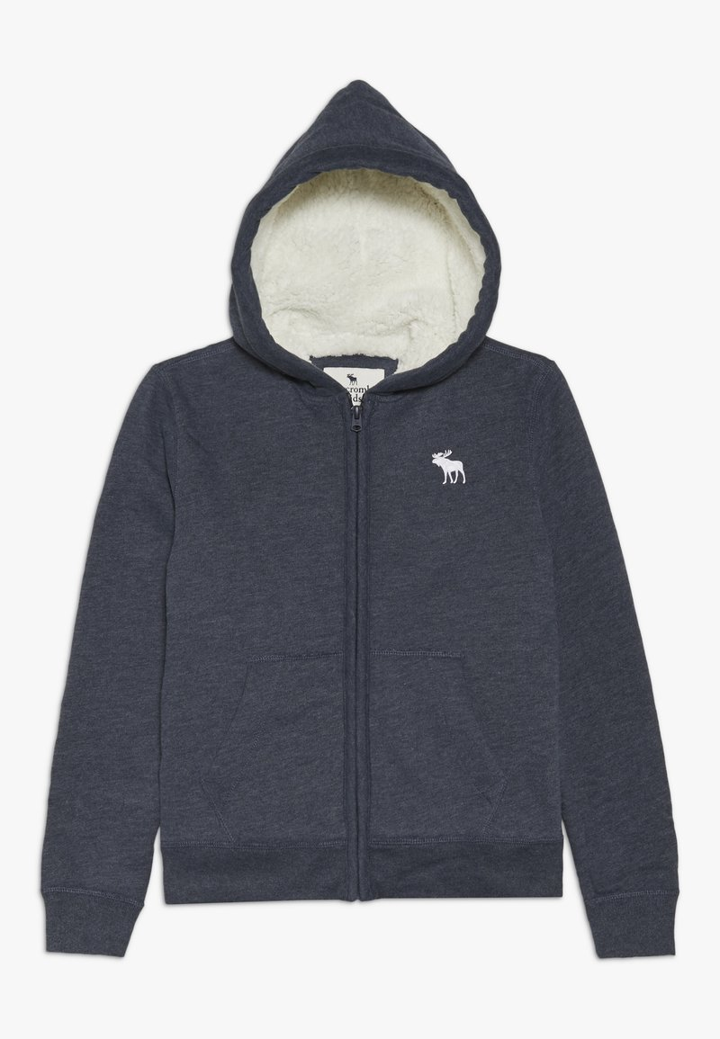 Abercrombie & Fitch - SHERPA  - Zip-up hoodie - textured navy