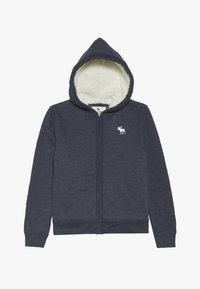 Abercrombie & Fitch - SHERPA  - Zip-up hoodie - textured navy - 2