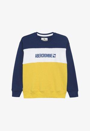 FASHION CREW - Sweatshirt - blue/yellow