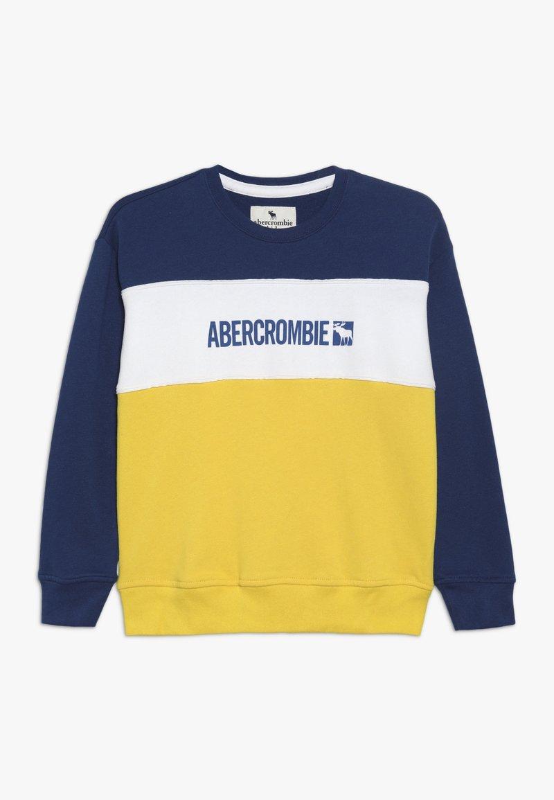 Abercrombie & Fitch - FASHION CREW - Sweatshirt - blue/yellow