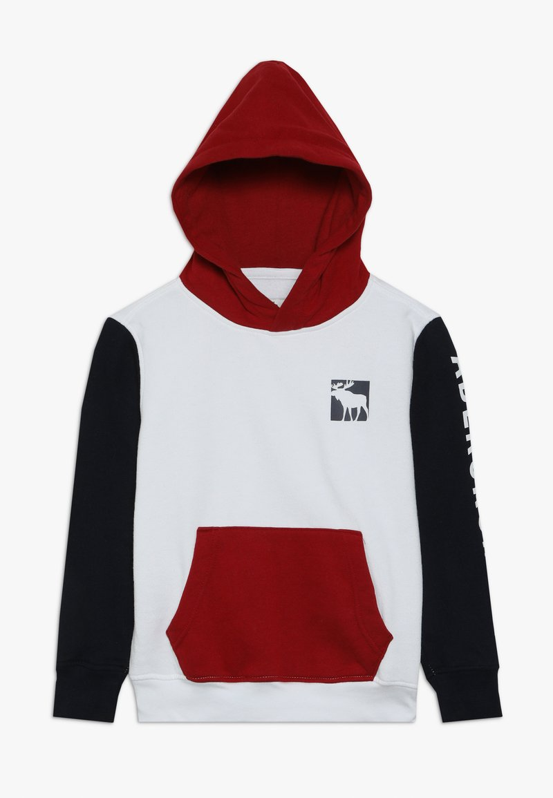 Abercrombie & Fitch - LOGO CORE - Hoodie - red/white/navy