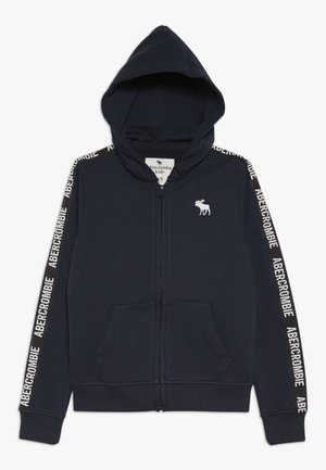 LOGO TAPE - Mikina na zip - navy