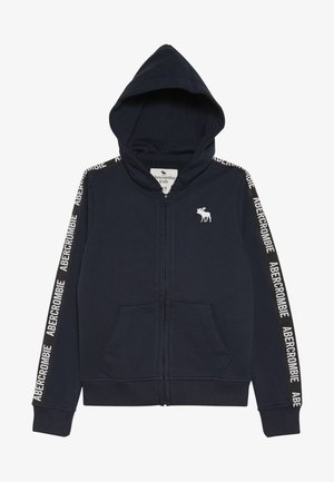 LOGO TAPE - Zip-up hoodie - navy