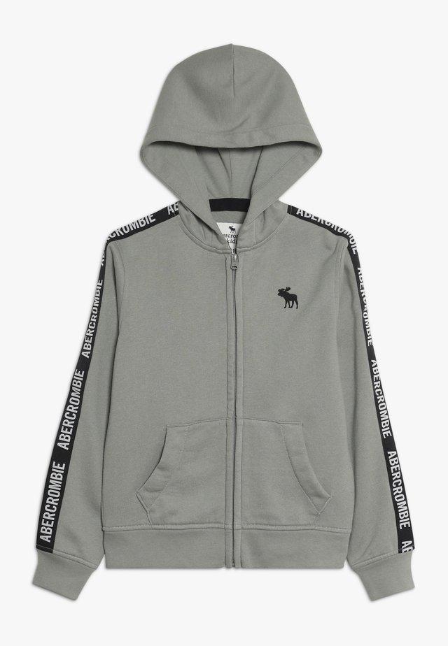 LOGO TAPE - Zip-up hoodie - olive