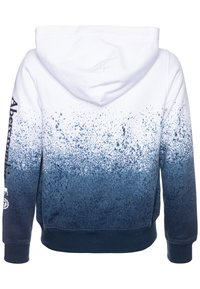 Abercrombie & Fitch - LOGO - Sudadera con cremallera - white/blue - 1