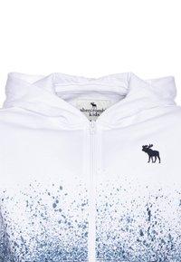 Abercrombie & Fitch - LOGO - Sudadera con cremallera - white/blue - 2