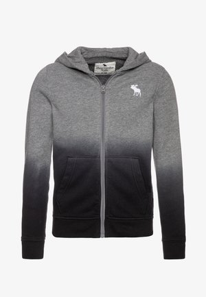 LOGO - veste en sweat zippée - grey/black