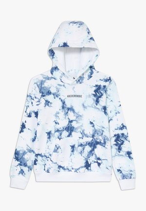 Hoodie - white grounded pattern