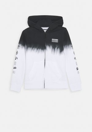 LOGO - Mikina na zip - black/white