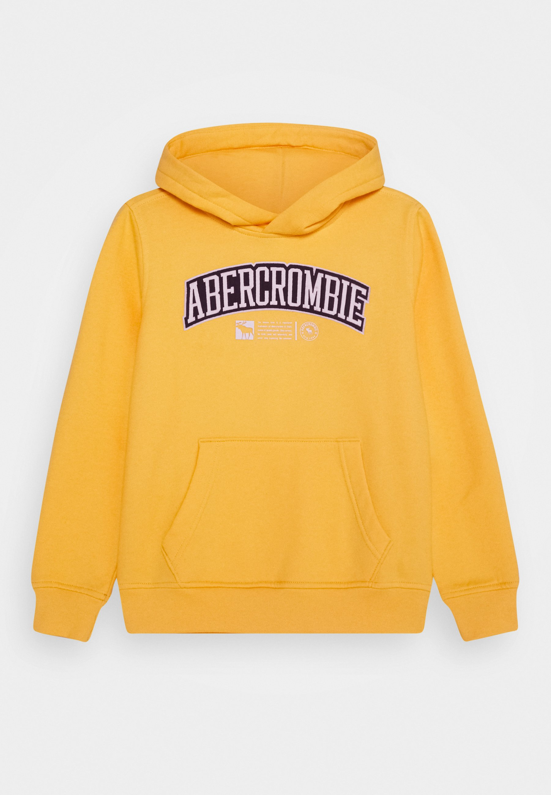 Abercrombie & Fitch LOGO Sweat à capuche yellow ZALANDO.FR