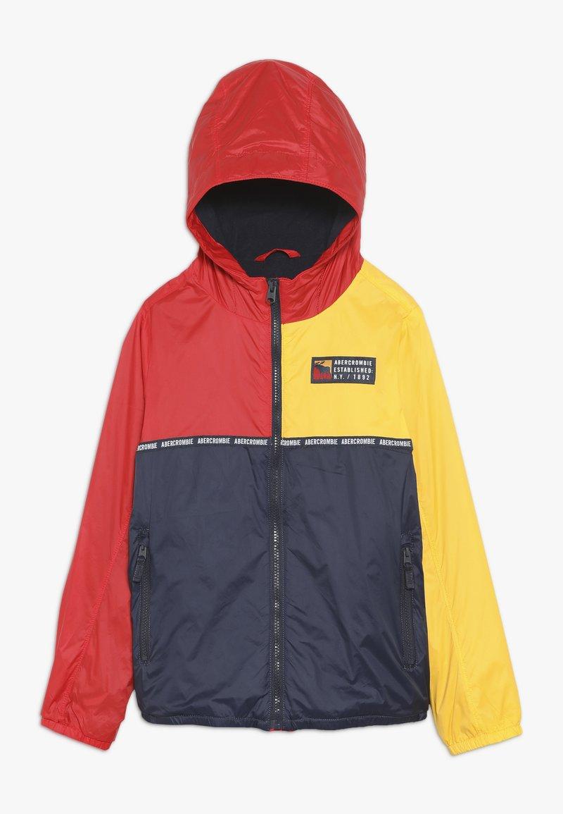 Abercrombie & Fitch - CORE WINDBREAKERS - Winterjacke - yellow/red/navy