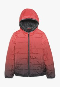Abercrombie & Fitch - COZY PUFFER OMBRE  - Zimní bunda - red ombre - 0