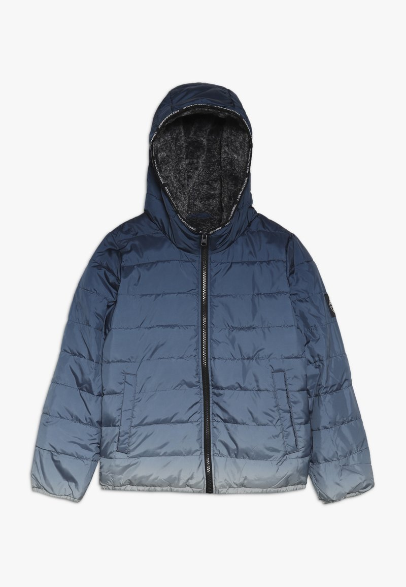Abercrombie & Fitch - COZY PUFFER OMBRE  - Winter jacket - blue