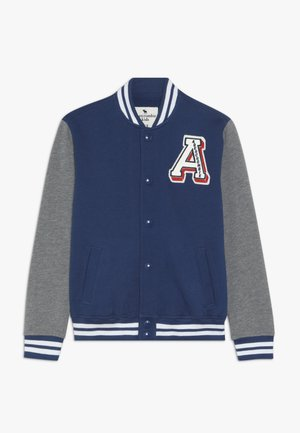 VARSITY JACKET - Mikina na zip - blue/grey