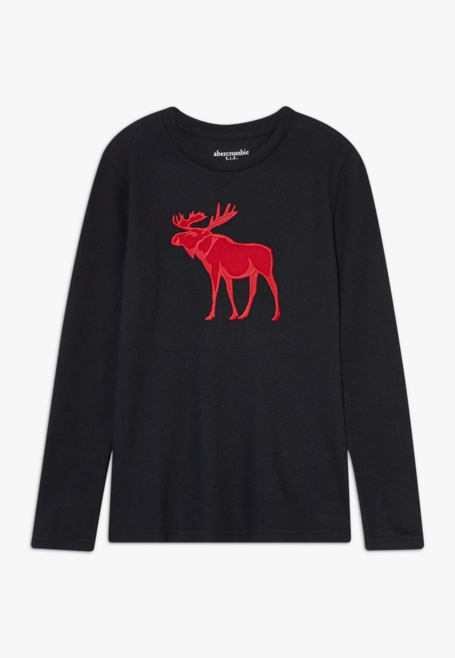 COZY TECH LOGO  - Långärmad tröja - black