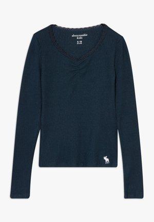 RUCH FRONT SOLID - Langærmede T-shirts - navy