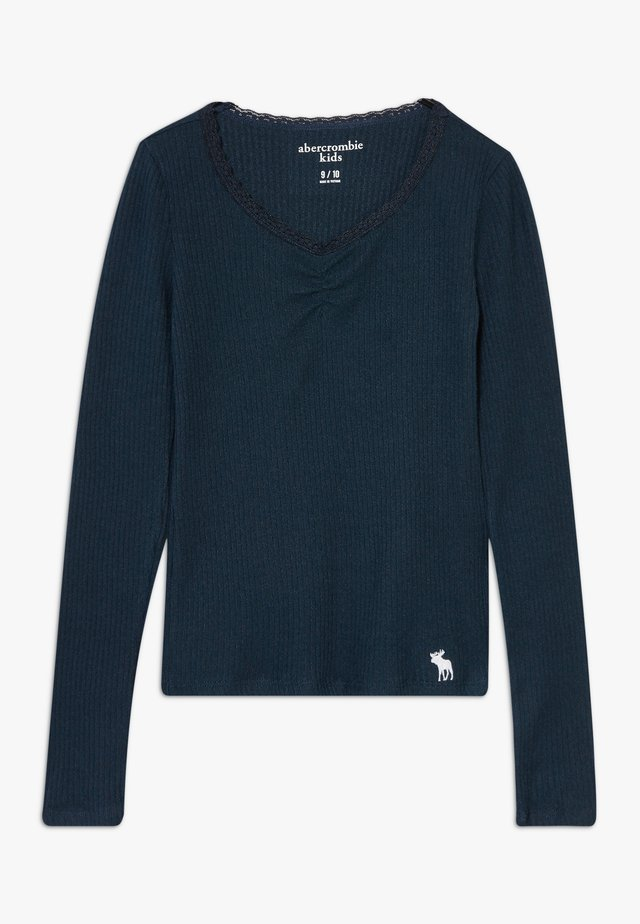 RUCH FRONT SOLID - Long sleeved top - navy