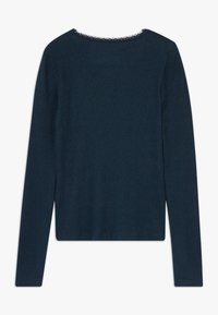 Abercrombie & Fitch - RUCH FRONT SOLID - Long sleeved top - navy - 1
