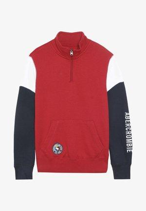 QUARTER ZIP - Sweater - white/multi-coloured