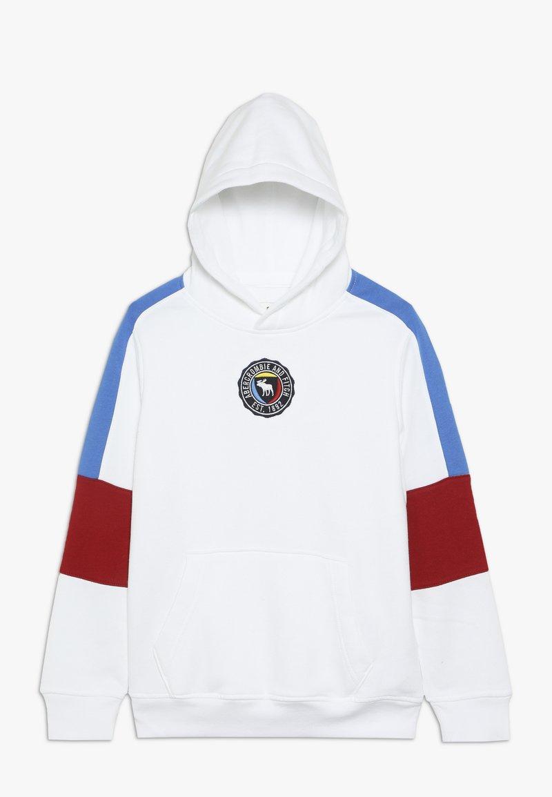 Abercrombie & Fitch - Bluza z kapturem - white