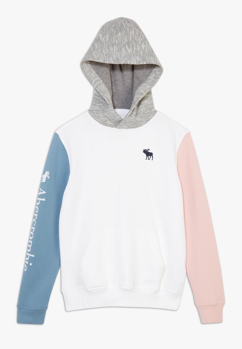 Abercrombie & Fitch - Mikina - white/blue pink