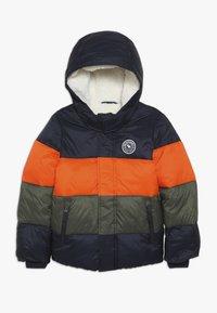 Abercrombie & Fitch - ESSENTIAL PUFFER - Vinterjacka - orange/navy/olive - 0