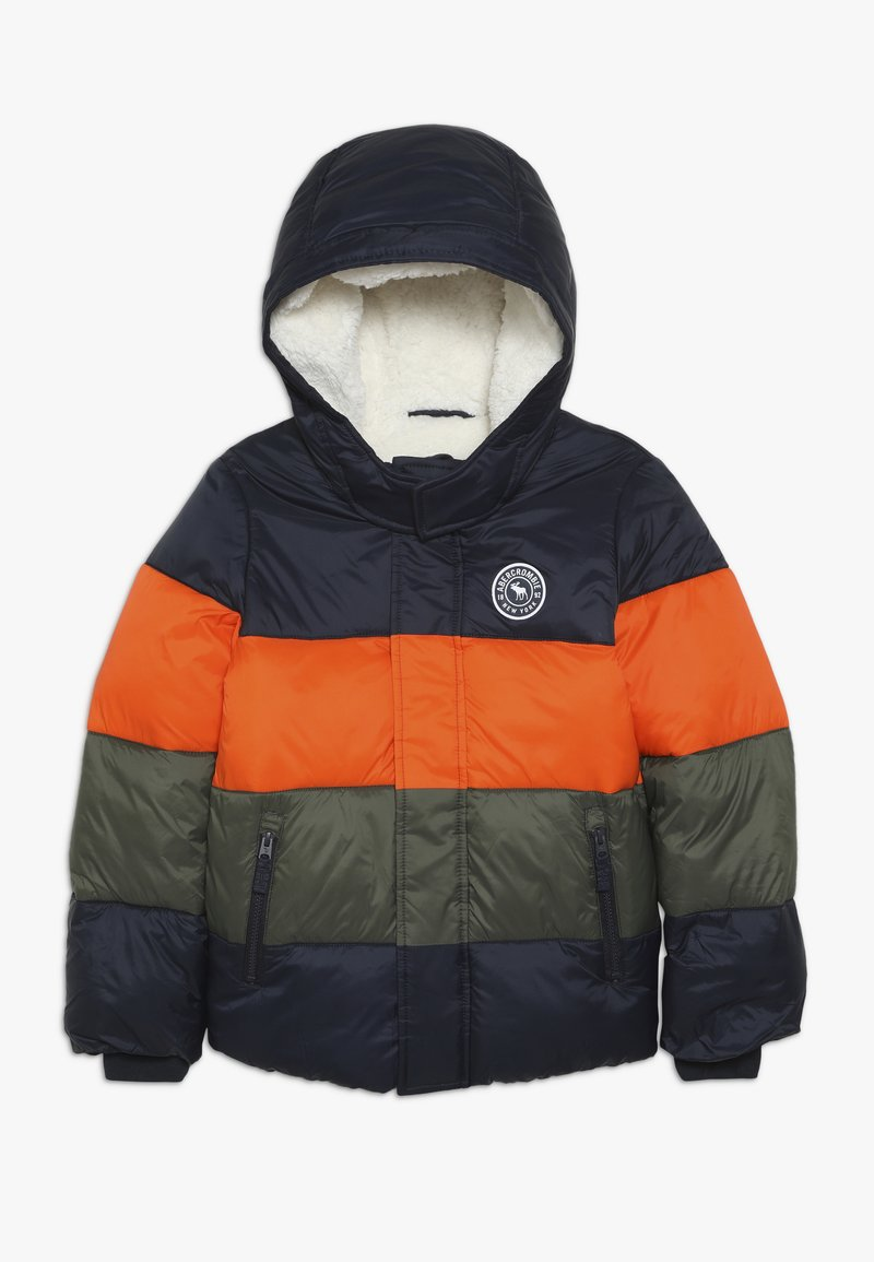 Abercrombie & Fitch - ESSENTIAL PUFFER - Vinterjacka - orange/navy/olive