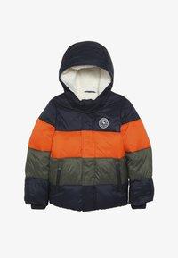 Abercrombie & Fitch - ESSENTIAL PUFFER - Vinterjacka - orange/navy/olive - 3