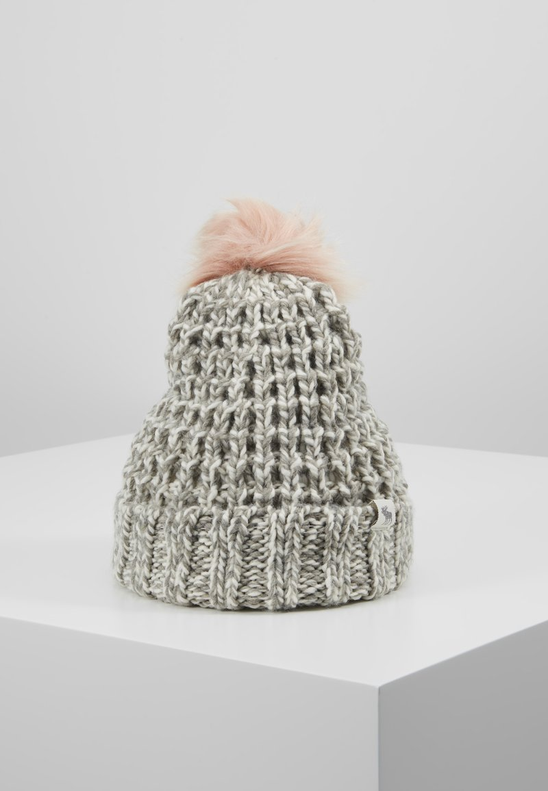 Abercrombie & Fitch - POM BEANIES - Muts - grey/pink